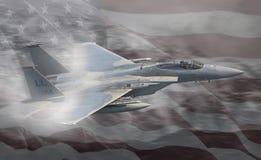 Jato da força aérea de Estados Unidos do U.S.A.F. Fotografia de Stock
