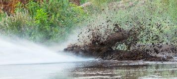 Jato de água de alta pressão Foto de Stock