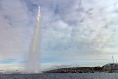 Jato de água em Genebra Foto de Stock
