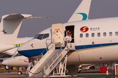 Jato de Nanshan Boeing BBJ Imagens de Stock