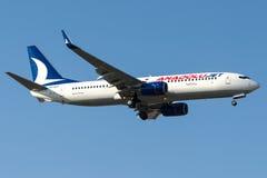 Jato de TC-SCF Anadolu, Boeing 737-800 Fotos de Stock