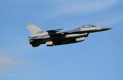 Jato do caça F-16 Fotografia de Stock