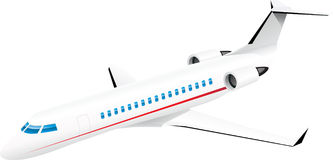 Jato do passanger de Aiplane Ilustração do Vetor