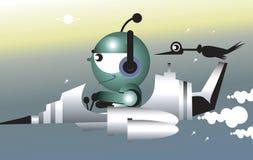Jato dos desenhos animados ilustração royalty free