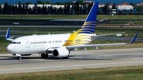 Jato real de A6-RJZ, Boeing 737-700 Imagens de Stock