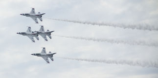 Jatos da força aérea na formação Fotografia de Stock