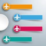 Jatos das bandeiras dos círculos da reticulação 4 de Infographic Fotografia de Stock