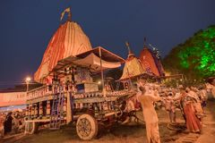 Jatra de Rath em Kolkata, Bengal ocidental - Índia Imagem de Stock Royalty Free