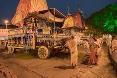 Jatra de Rath em Kolkata, Bengal ocidental - Índia fotografia de stock