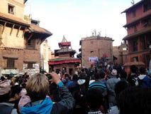 jatra em Bhaktapur Imagens de Stock