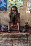 A jattadhari sadhu in samadhi in Varanasi, India Royalty Free Stock Photography