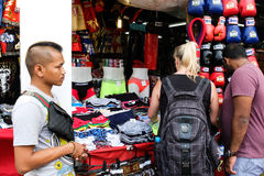 Jatujak周末市场在曼谷 免版税库存照片