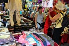 Jatujak helgmarknad på Bangkok Arkivfoton