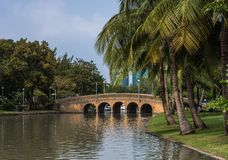Jatujak Park. On the famous parks at the heart of Bangkok Thailand royalty free stock photo