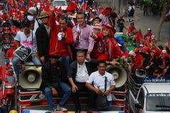Jatuporn en Korkeaw leiden het protest Royalty-vrije Stock Afbeelding