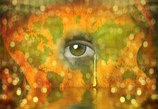 jaty łzy świat ilustracja wektor