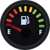 Jauge de carburant montrant le plein réservoir Réservoir vide illustration libre de droits