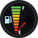 Jauge de carburant, réservoir vide illustration de vecteur