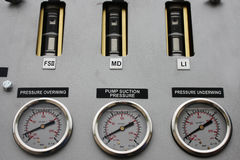 Jauges d'essence Photo stock