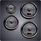 Jauges de véhicule illustrées Image stock