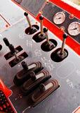 Jauges et leviers Photos stock