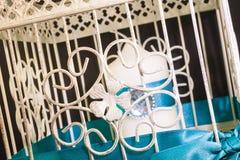 Jaula de la boda para la vela fotografía de archivo libre de regalías