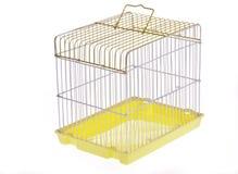 Jaula de pájaro amarilla Imagenes de archivo