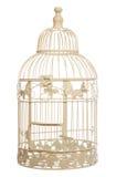 Jaula de pájaro elegante lamentable de la vendimia Foto de archivo