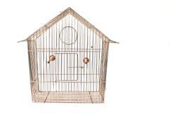 Jaula de pájaros vacía Imagenes de archivo