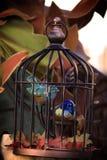 Jaula de pájaros de la porcelana Fotografía de archivo