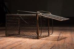 Jaula oxidada de la rata Fotografía de archivo