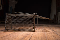 Jaula oxidada de la rata Fotos de archivo
