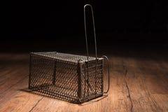 Jaula oxidada de la rata Fotografía de archivo libre de regalías