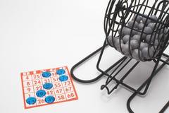 Jaula y tarjeta del bingo Imagen de archivo libre de regalías