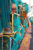 Jaulas apiladas de la langosta en el puerto Imágenes de archivo libres de regalías