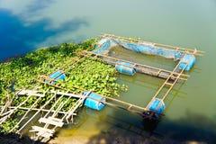 Jaulas de los pescados Fotos de archivo libres de regalías