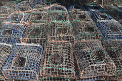 Jaulas para pescar los mariscos Fotografía de archivo