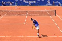 Jaume Munar (Spanish tennis player) plays at the ATP Barcelona Stock Image