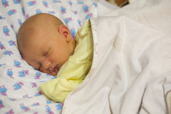 Jaundice in a newborn baby Stock Photos