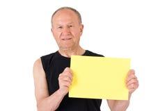 jaune aîné d'affiche d'homme Photographie stock libre de droits