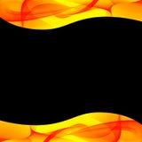 jaune abstrait de noir de fond Photos libres de droits