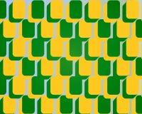 Jaune arrondi de vert de configuration de blocs carrés d'art de bruit Images libres de droits