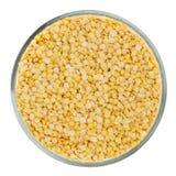 jaune blanc de macro projectile de lentilles d'isolement par fond Photos stock