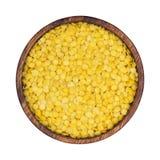 jaune blanc de macro projectile de lentilles d'isolement par fond Image stock
