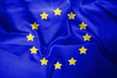 Jaune bleu de fond de drapeau de l'Europe photographie stock