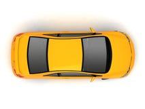 jaune compact de première vue de véhicule Photographie stock