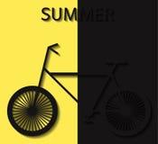 Jaune convexe d'éléments d'été de bicyclette illustration de vecteur