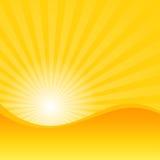 Jaune d'été avec le fond de rayon d'éclat du soleil () Photos libres de droits