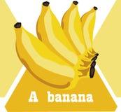 Jaune d'or cuit par banane à manger Photos libres de droits