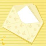 jaune d'enveloppe Photographie stock